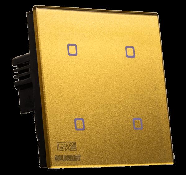 کلید لمسی هوشمند 4 پل طلایی