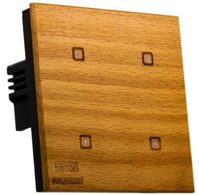 کلید لمسی 4 پل با رویه چوب