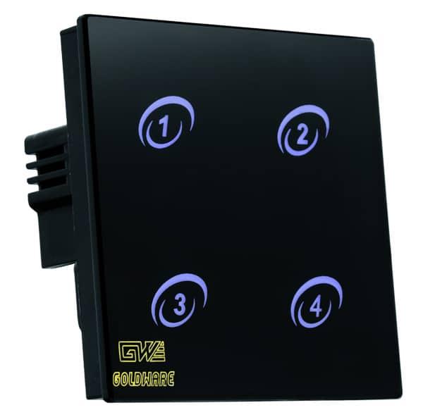 کلید لمسی کنترل روشنایی 4 پل