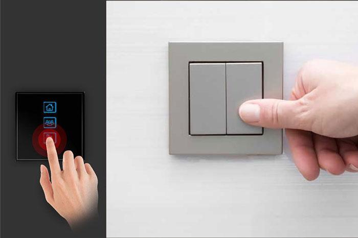مقایسه کلید سنتی با کلید لمسی سفارشی